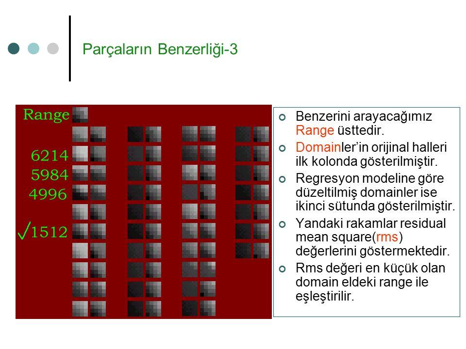 Parçaların Benzerliği-3 Benzerini arayacağımız Range üsttedir.