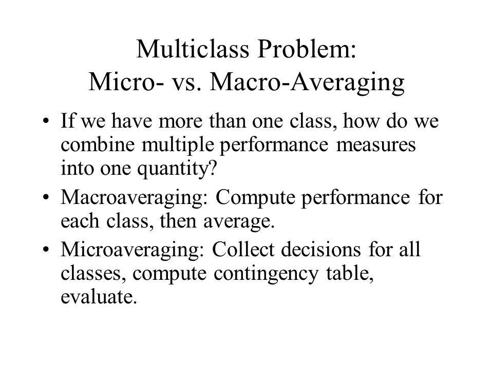 Multiclass Problem: Micro- vs.