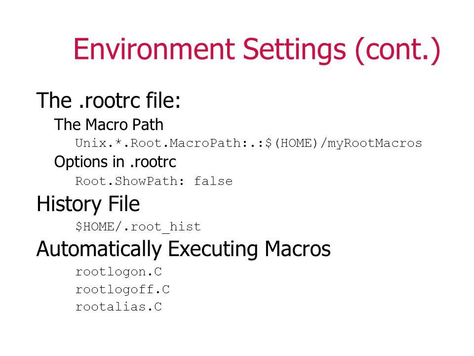 Command Line Options > root -/.Usage: root [-l] [-b] [-n] [-q] [file1.C...