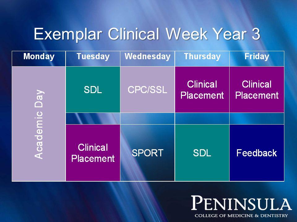 Exemplar Clinical Week Year 3