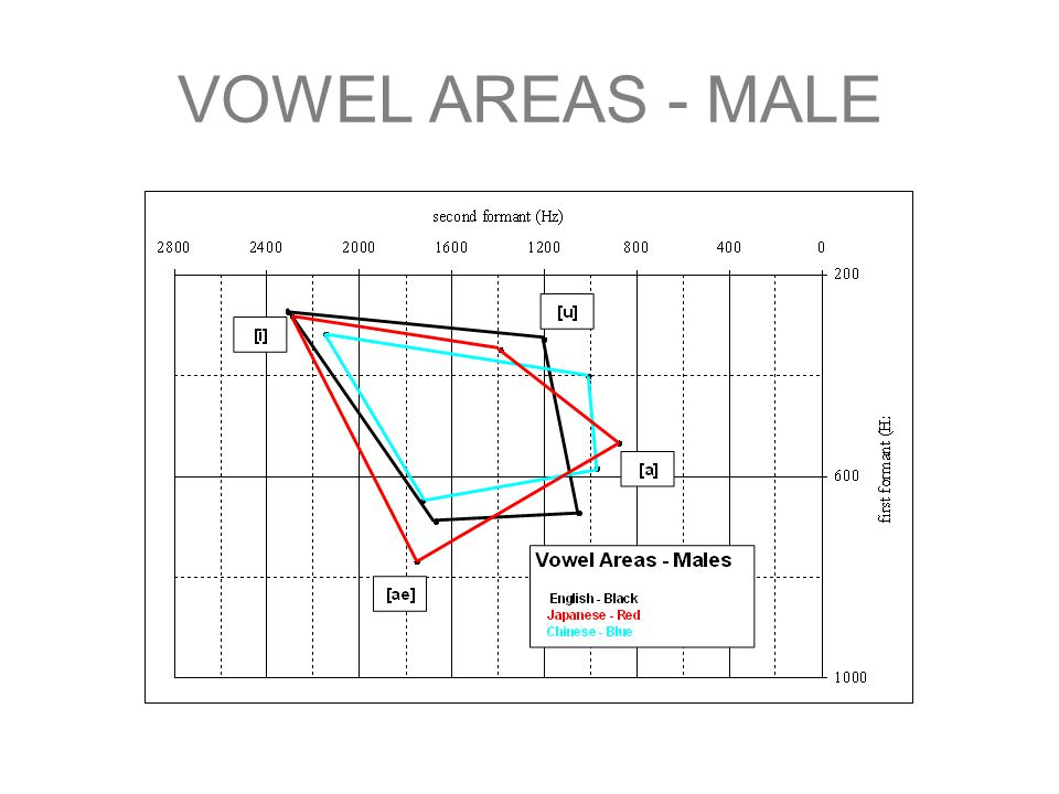 VOWEL AREAS - MALE