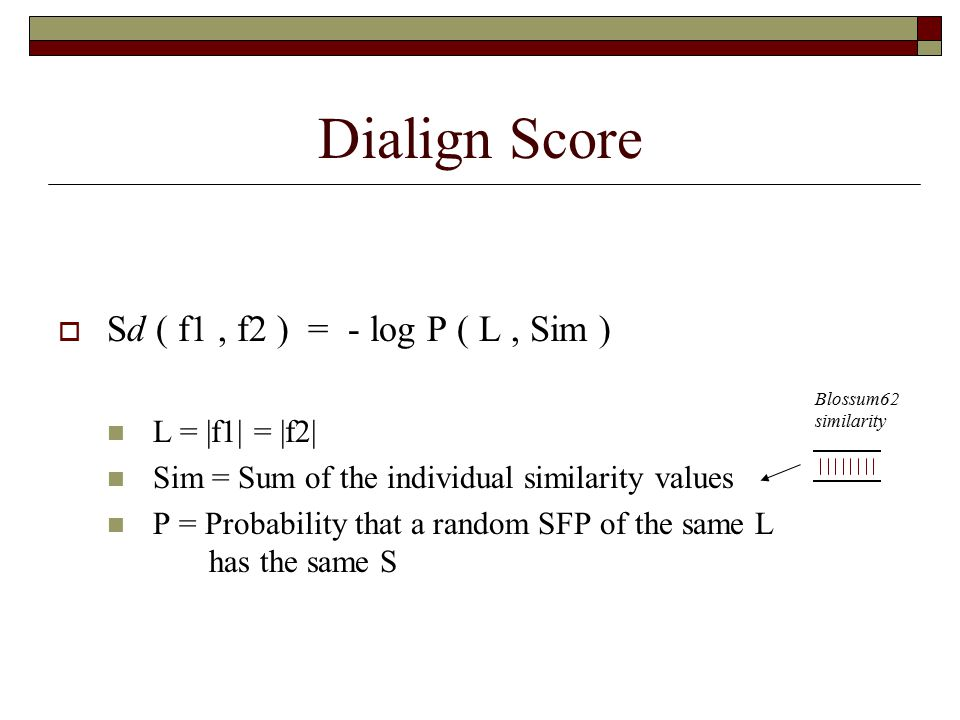 Error Correcting Cost The error correcting cost of a sequence S represents the distance (blossum similarity) between S and the closest sequence given by the automaton A.