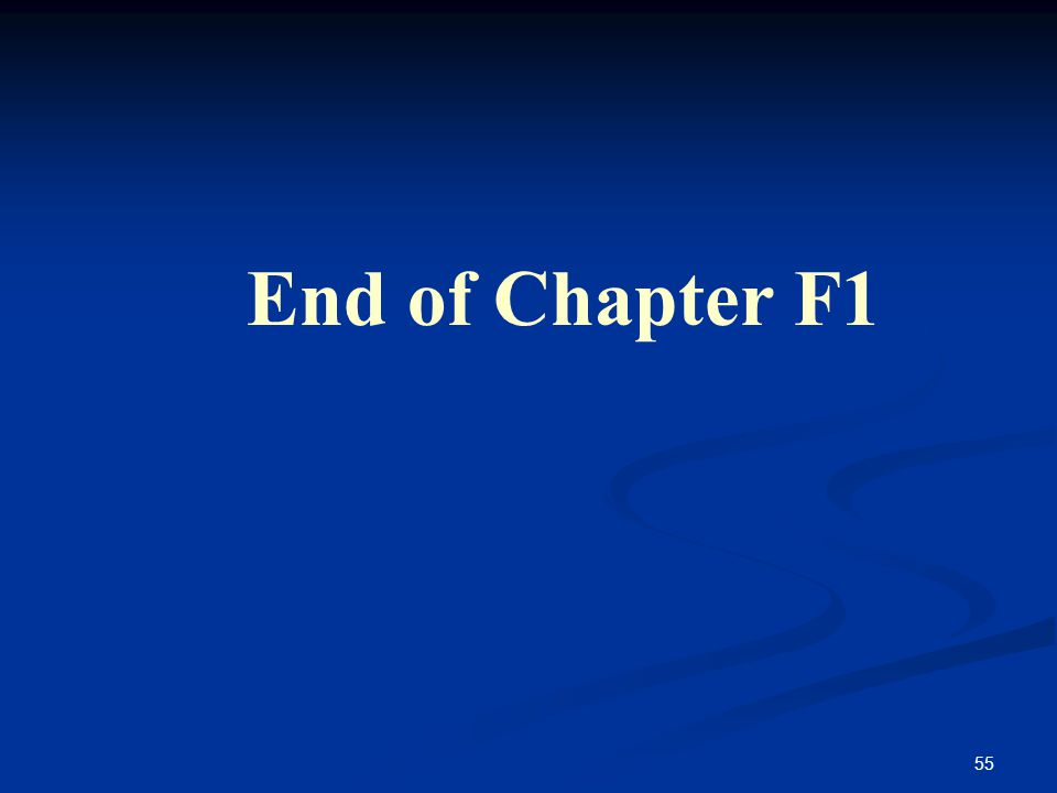55 End of Chapter F1