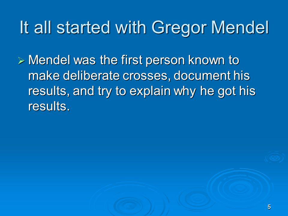 6 Who was Gregor Mendel.