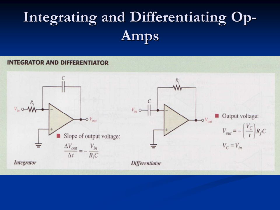 Bond Graphs of Integrating and Differentiating Op-Amps SF R SE C Integrator: 00 0 1 1 2 3 4 5 6 7 8