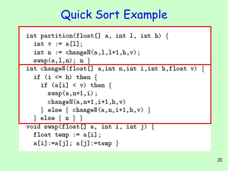 28 Quick Sort Example