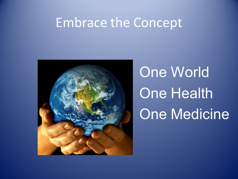 Embrace the Concept One World One Health One Medicine