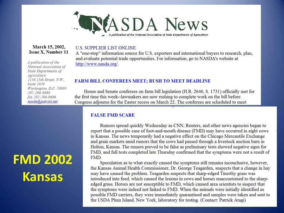 FMD 2002 Kansas
