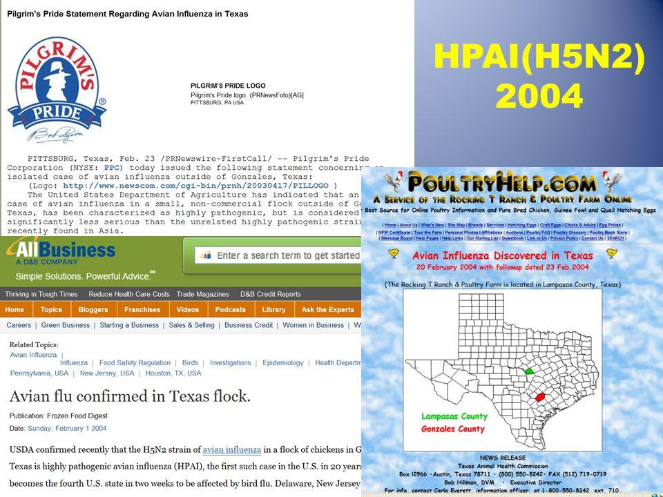 HPAI(H5N2) 2004