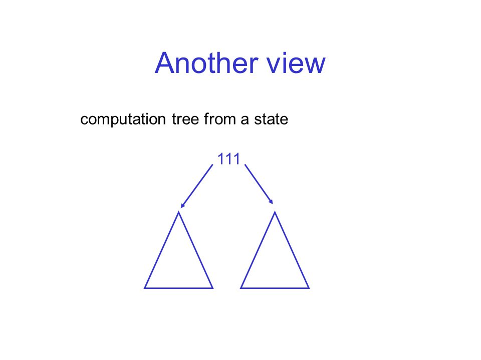 Another view computation tree from a state 111