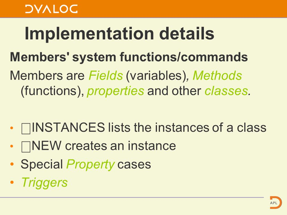 Complex Class This class also has 2 constructors and 2 private functions one of which is a trigger for when one of the fields is modified