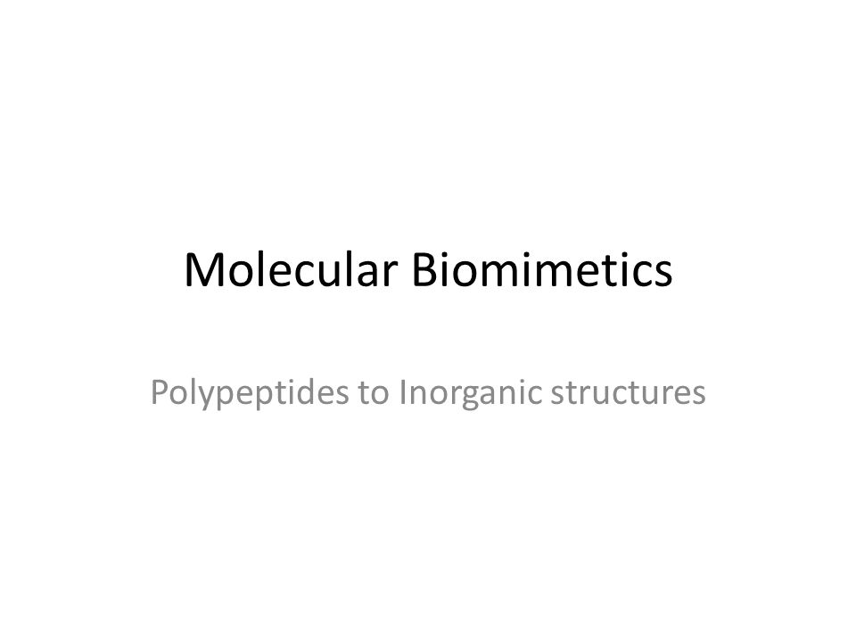 Molecular Biomimetics Polypeptides to Inorganic structures