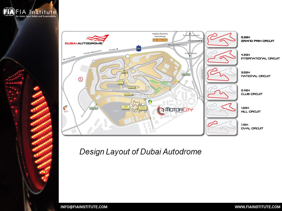 Design Layout of Dubai Autodrome