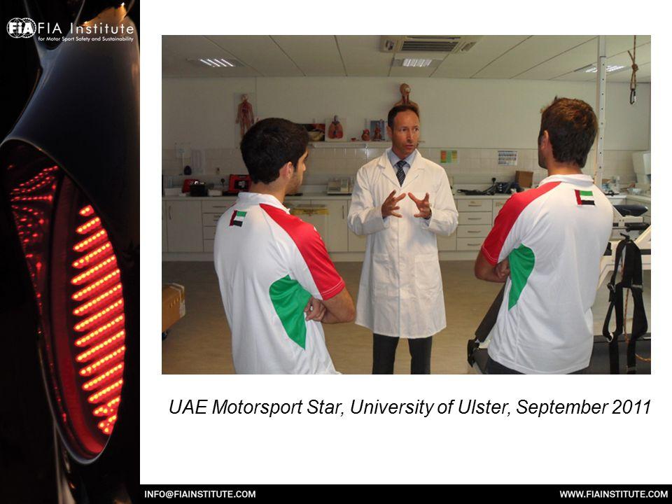 UAE Motorsport Star, University of Ulster, September 2011