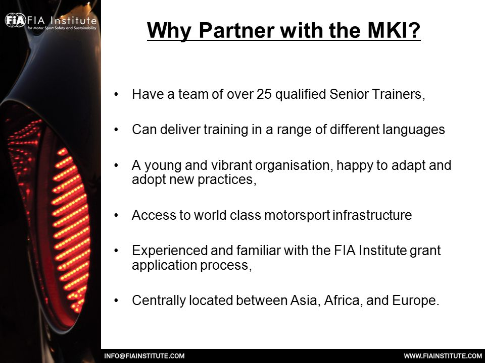 Why Partner with the MKI.