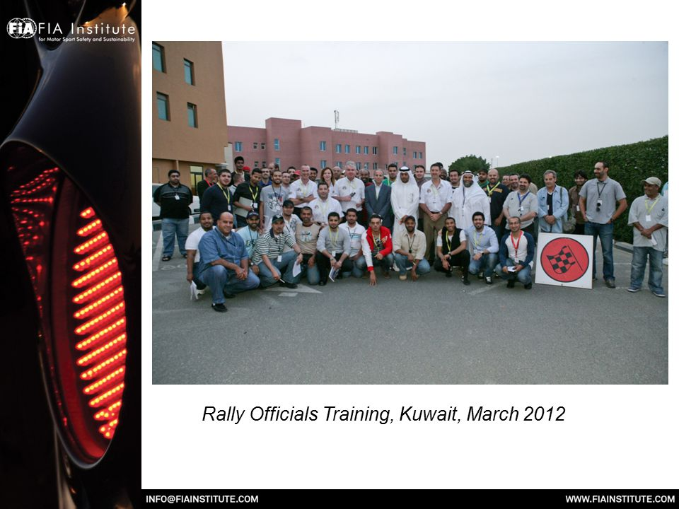 Rally Officials Training, Kuwait, March 2012
