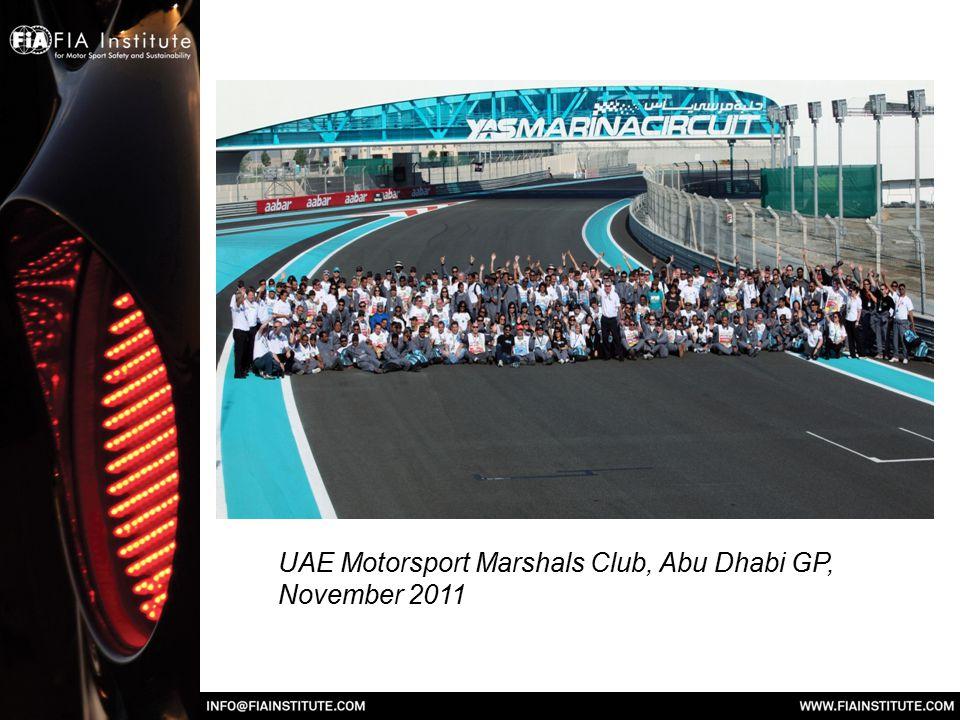 UAE Motorsport Marshals Club, Abu Dhabi GP, November 2011