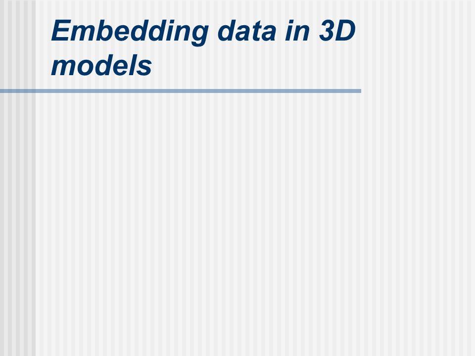 Embedding data in 3D models