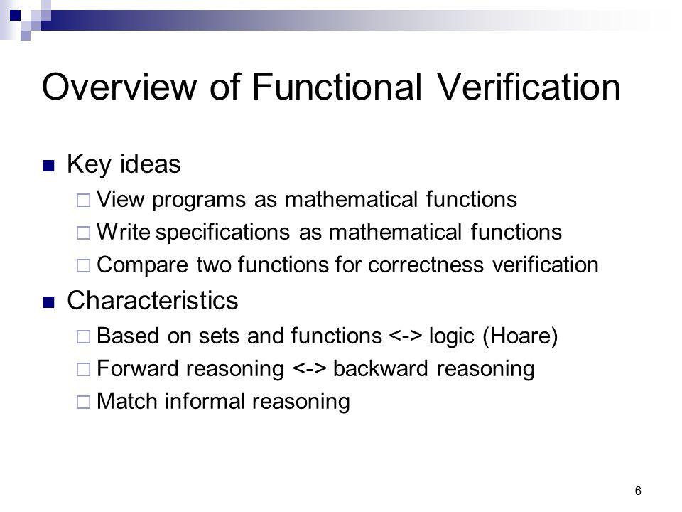 17 Functional Verification Process 1.
