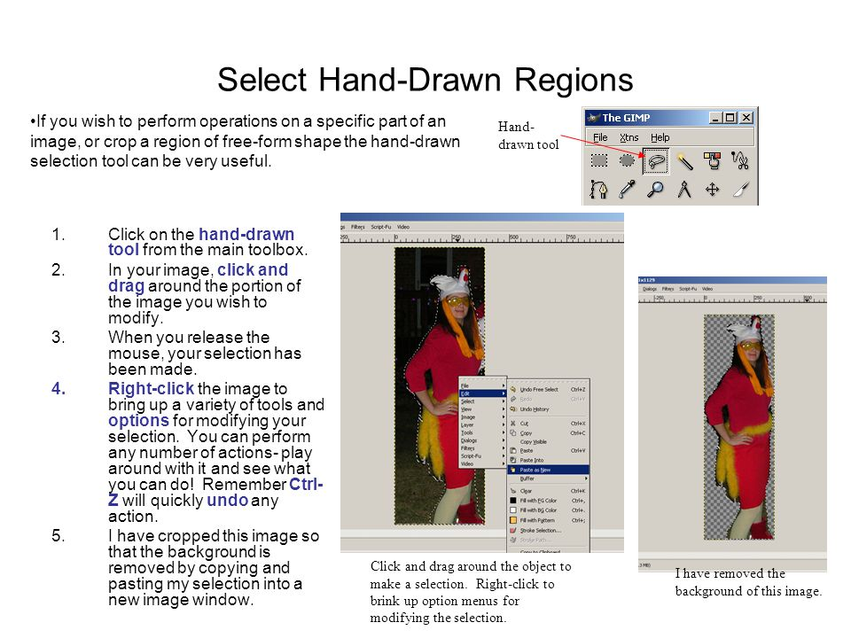 Select Hand-Drawn Regions 1.Click on the hand-drawn tool from the main toolbox.