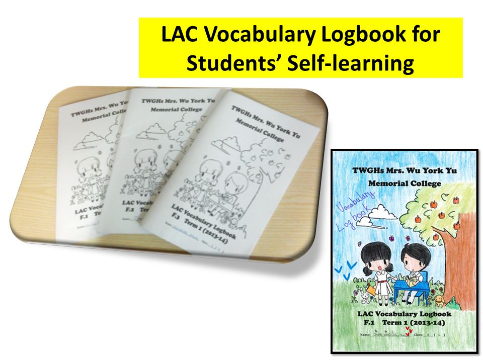 LAC Vocabulary Logbook for Students' Self-learning