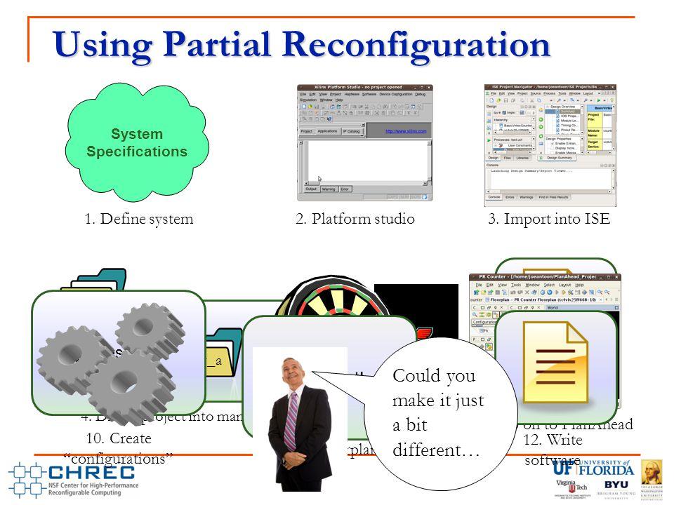 Using Partial Reconfiguration 2. Platform studio 3.