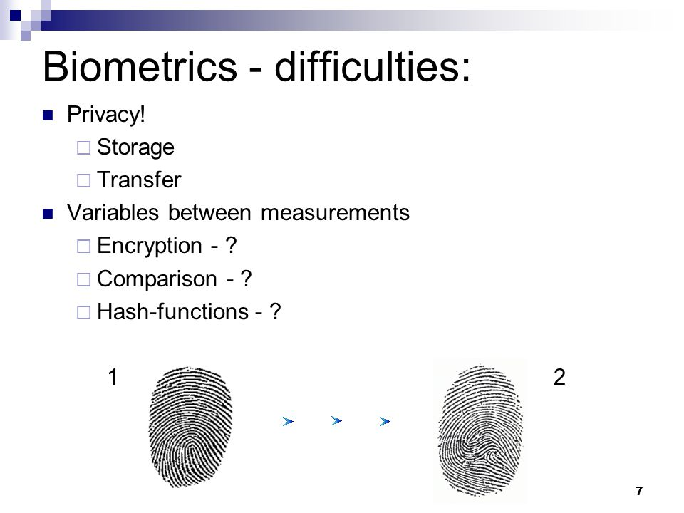 Privacy.  Storage  Transfer Variables between measurements  Encryption - .