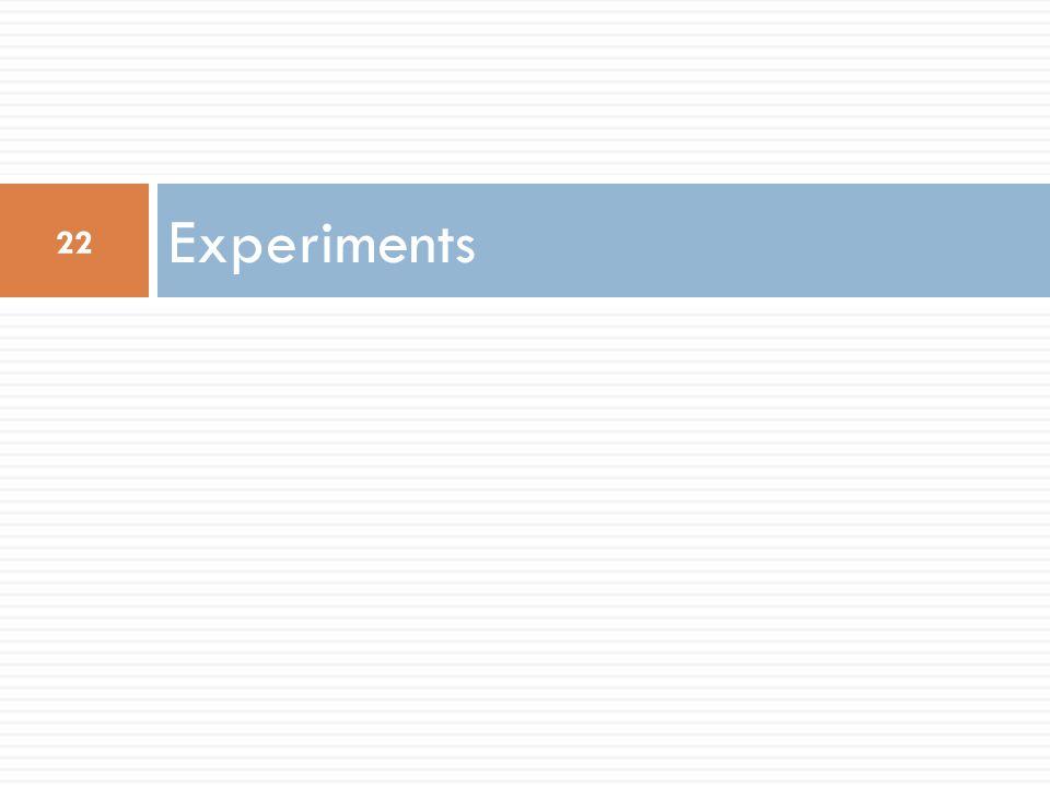 Experiments 22