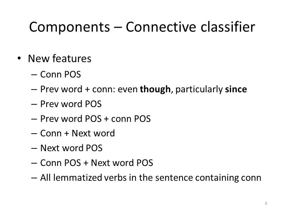 Components – Argument labeler 5