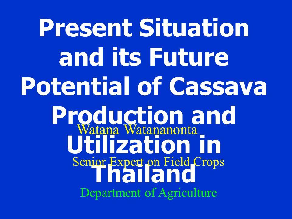 Cassava growing area: 1. The eastern region 2. The Northeast region 3. The central region