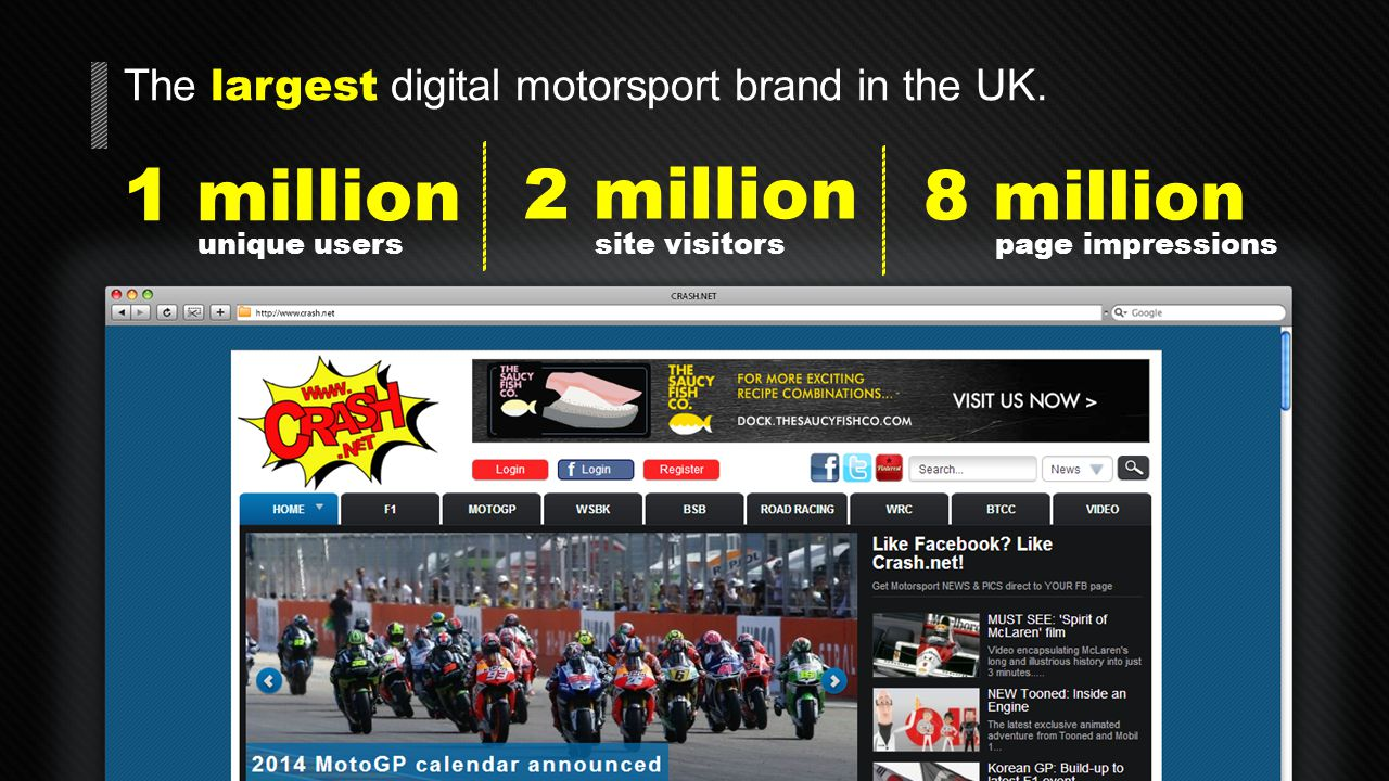 CRASH.NET Our mission Championships We cover all the major motorsport championships UK and worldwide Results We bring our users the latest results and race reports Action We take our users closer to the action with high quality multimedia content Speed We respond rapidly to breaking news and deliver the stories that matter to motorsport fans Heritage Since 1999 we've been the authoritative source of motorsport news on the web