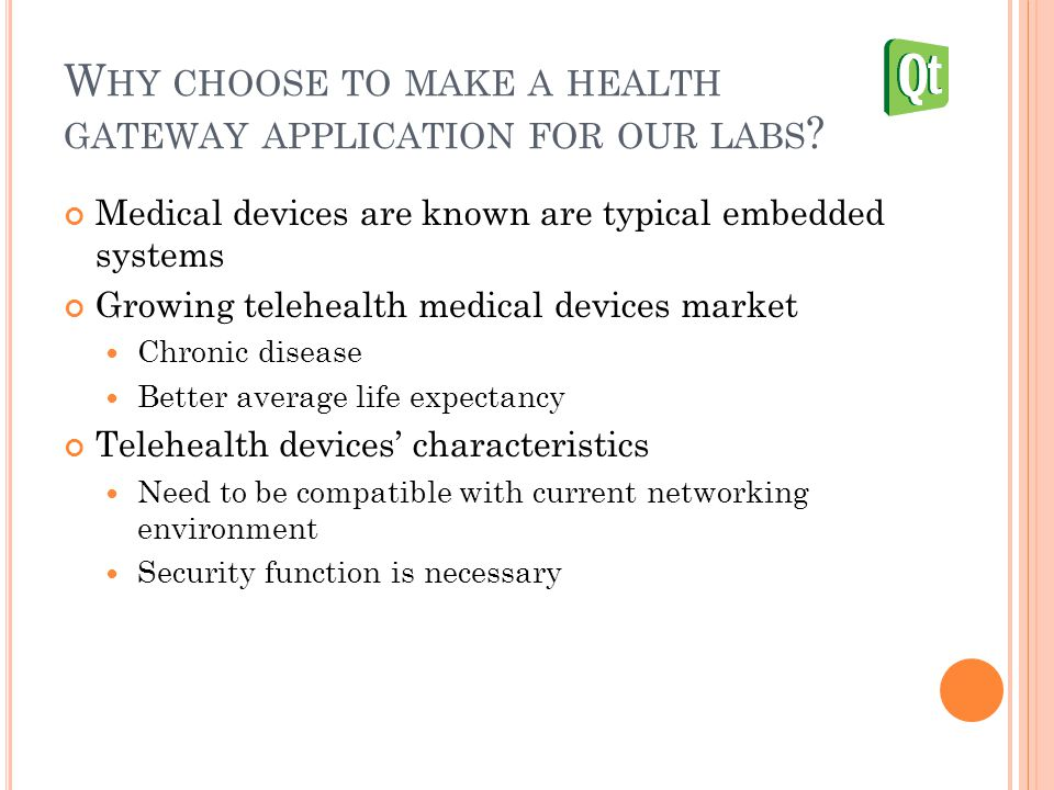 W HY CHOOSE TO MAKE A HEALTH GATEWAY APPLICATION FOR OUR LABS .