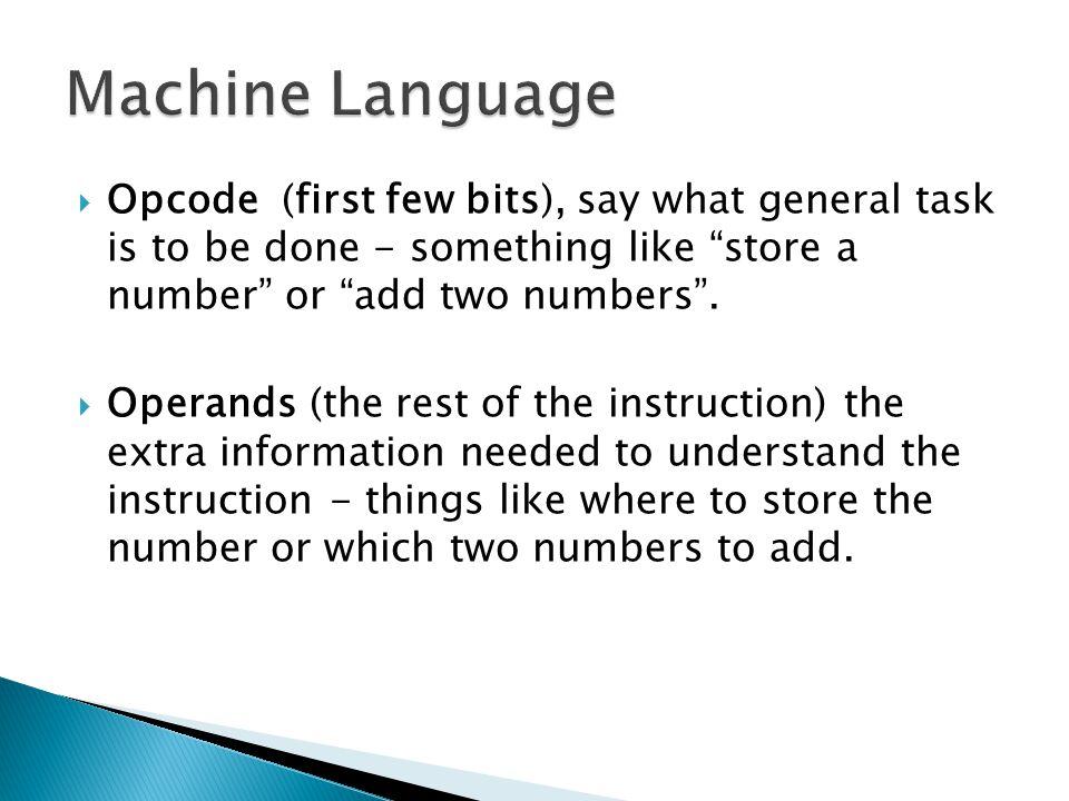  The figure below shows how an imaginary computer might interpret an instruction.