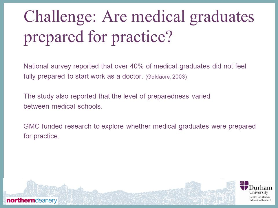 ∂ Challenge: Are medical graduates prepared for practice.