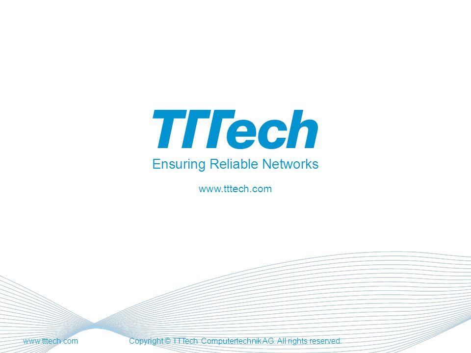 EnsuringReliableNetworks www.tttech.com www.tttech.comCopyright © TTTech Computertechnik AG.