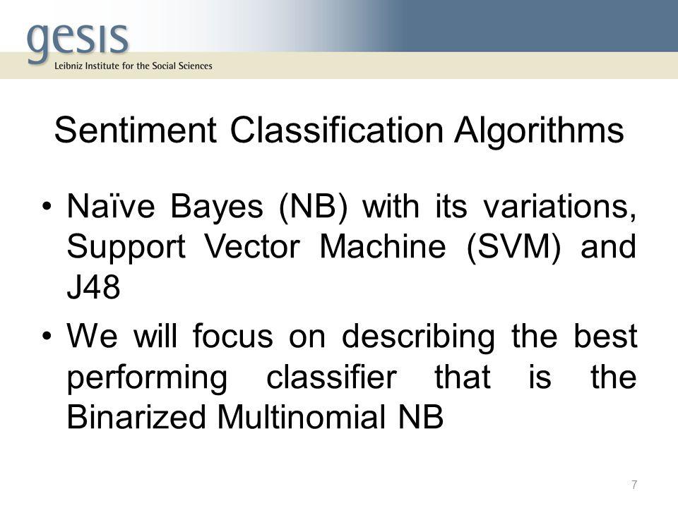 The Binarized Multinomial NB 8