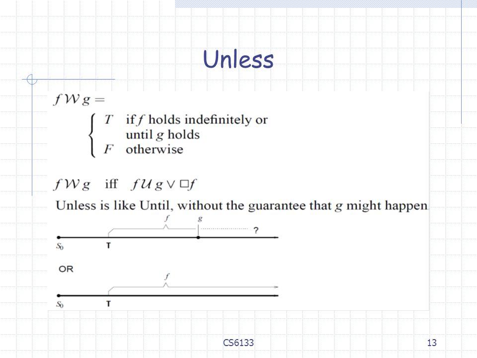 13 Unless CS6133