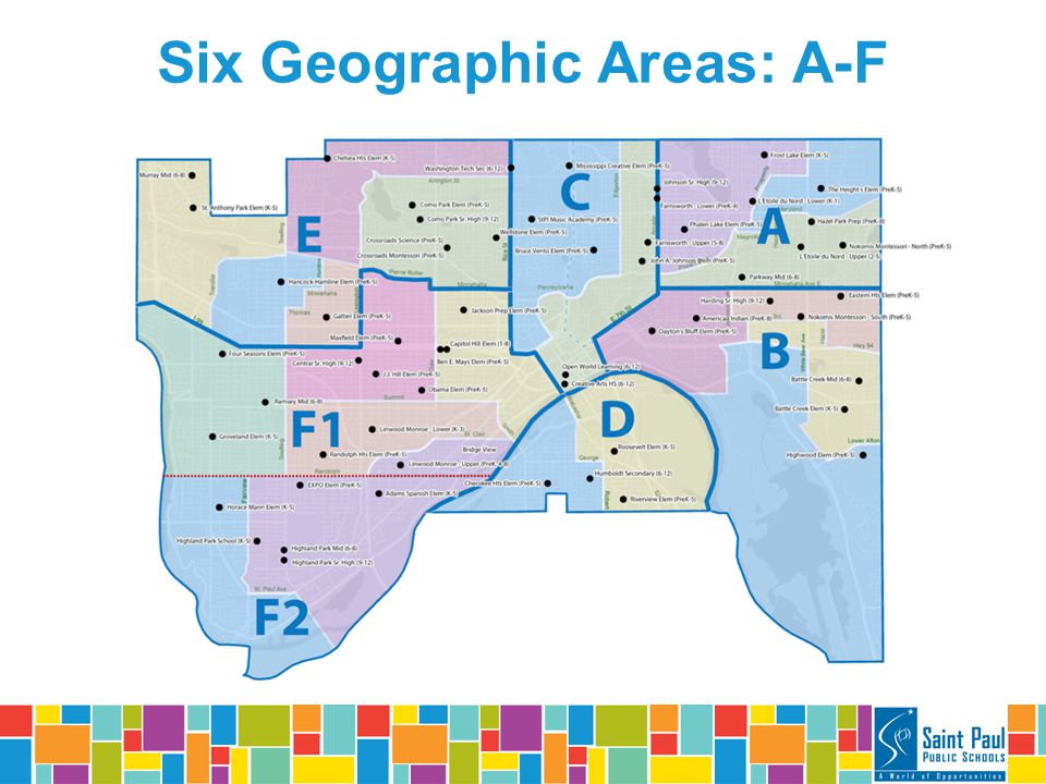 Six Geographic Areas: A-F