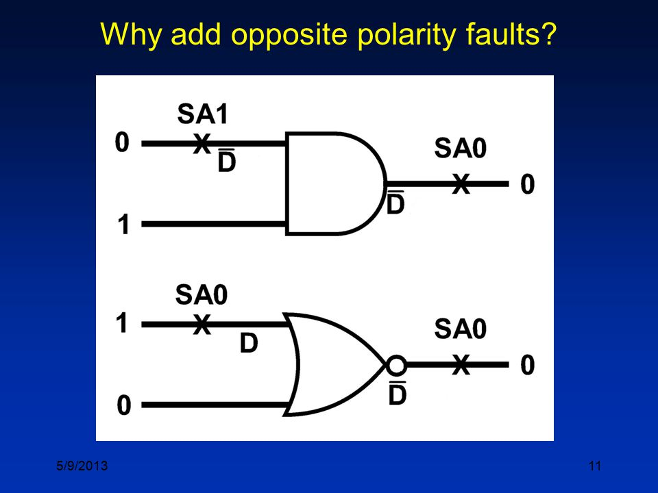 11 Why add opposite polarity faults 5/9/2013