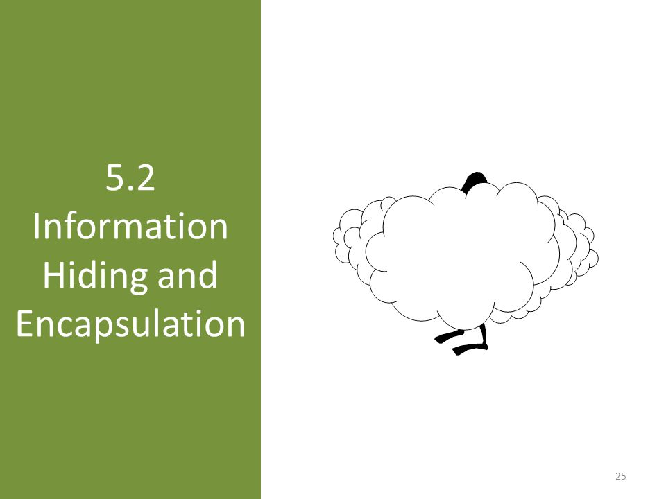 5.2 Information Hiding and Encapsulation 25
