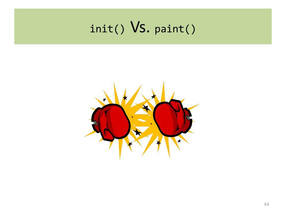 init() Vs. paint() 64