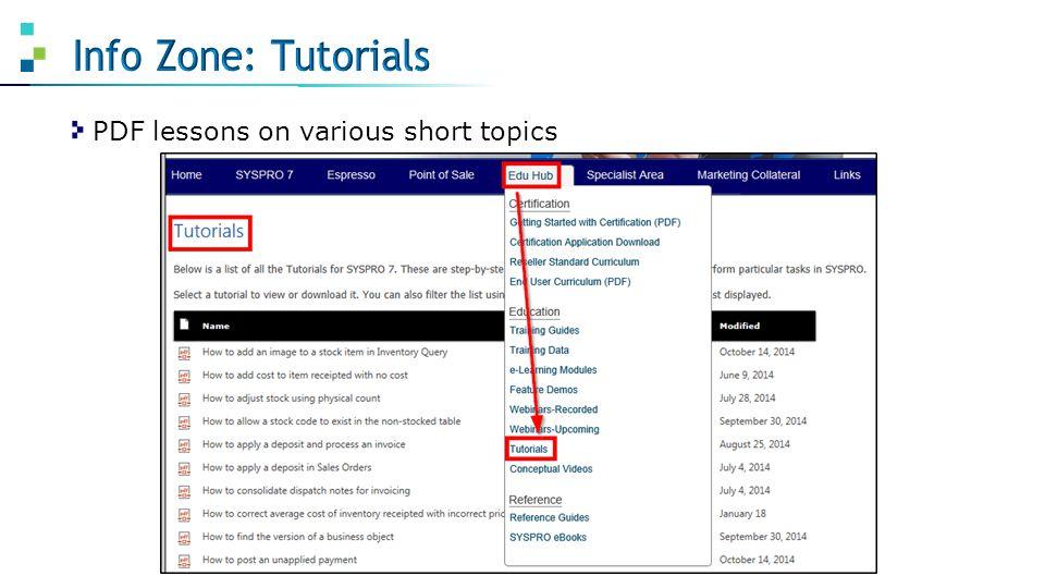 PDF lessons on various short topics