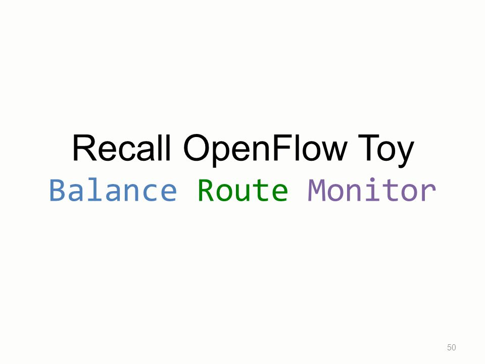 Recall OpenFlow Toy Balance Route Monitor 50