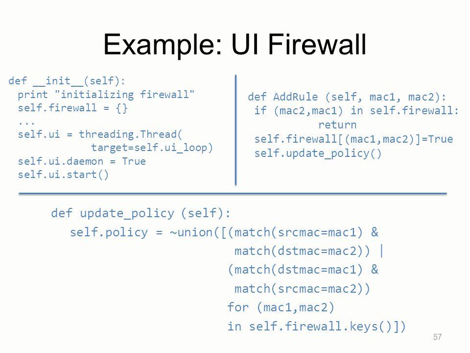 Example: UI Firewall def __init__(self): print