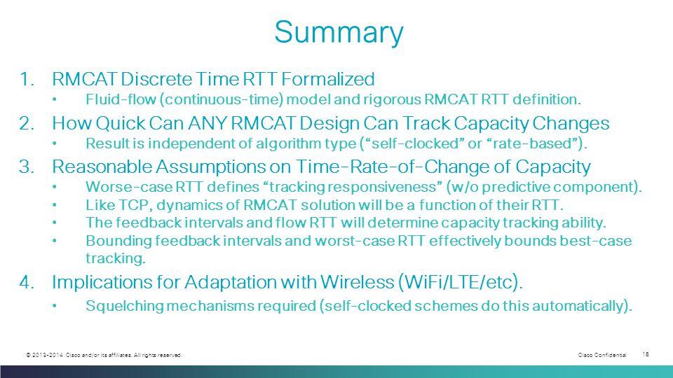 Cisco Confidential 18 © 2013-2014 Cisco and/or its affiliates.