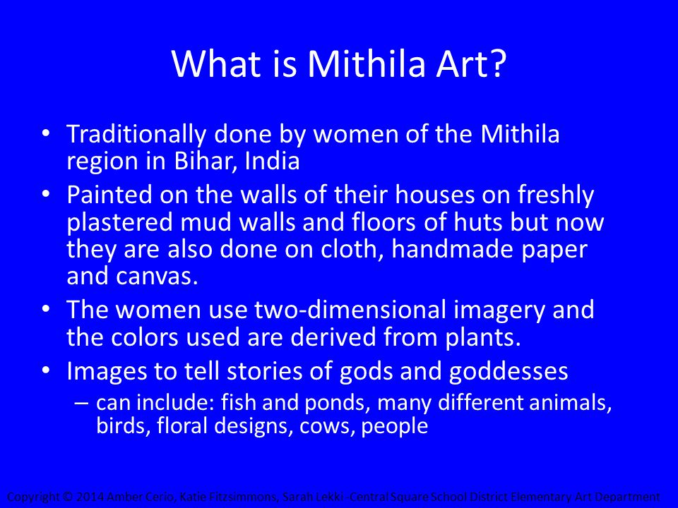 What is Mithila Art.