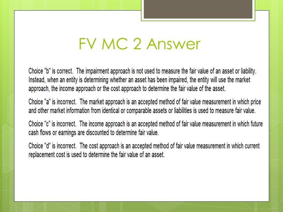 FV MC 2 Answer