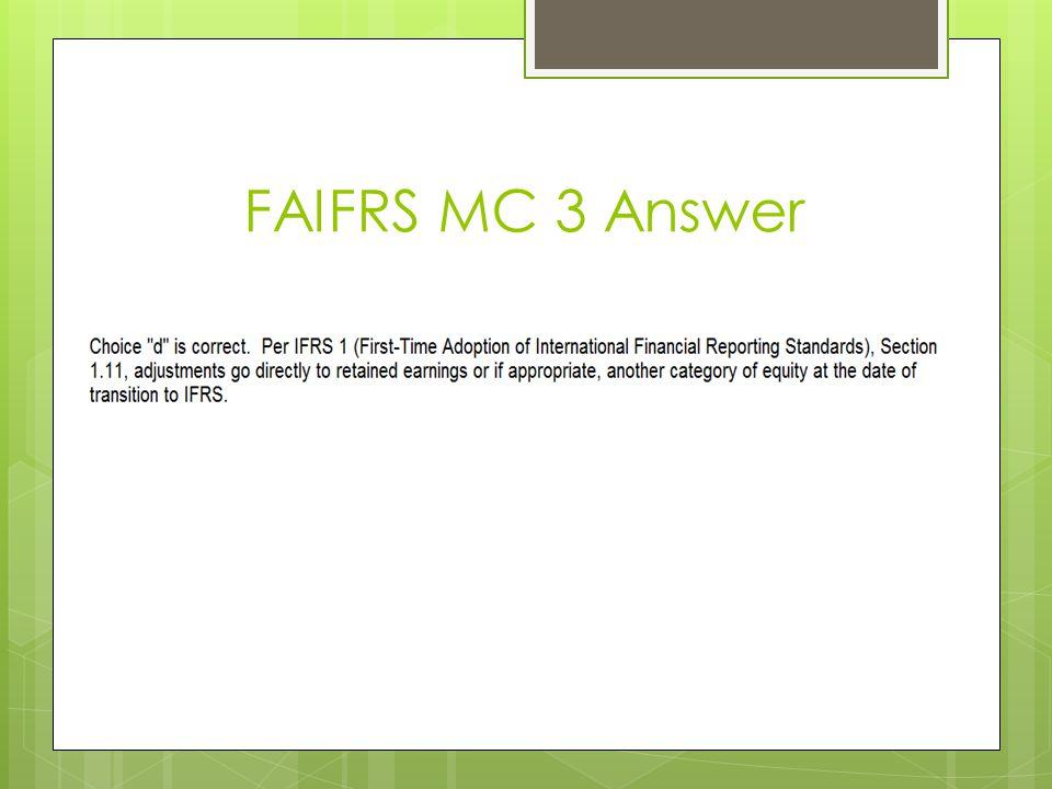 FAIFRS MC 3 Answer