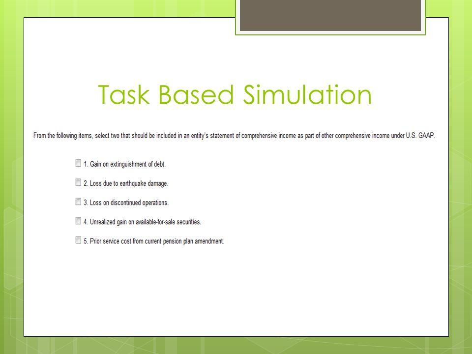 Task Based Simulation