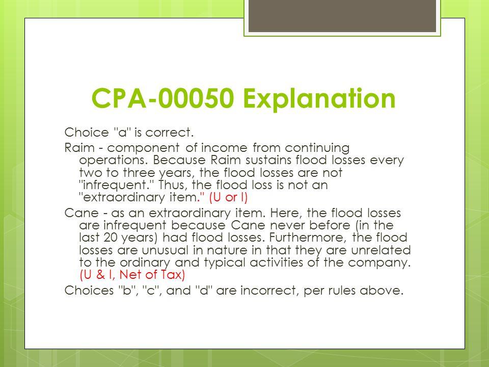 CPA-00050 Explanation Choice